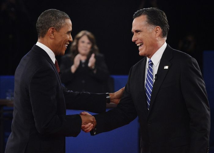 Presidential candidates square off in second debate, Photo 1 of 10