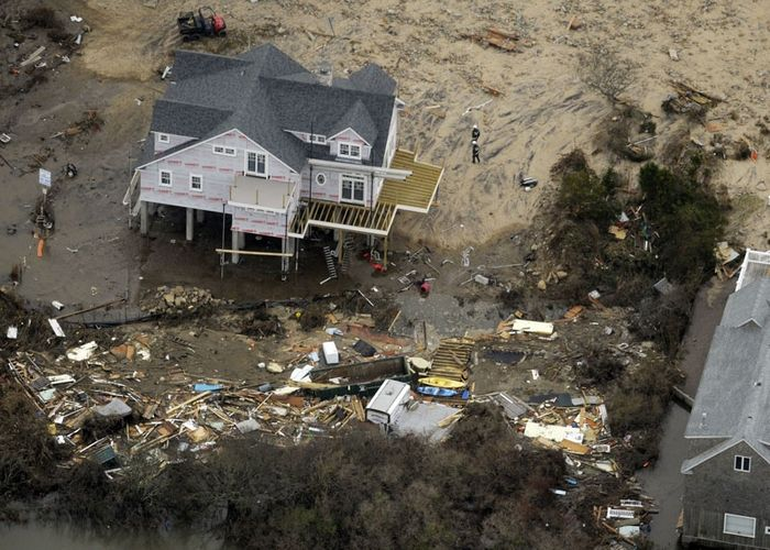 Aerial Hurricane Sandy damage photos, Photo 1 of 18
