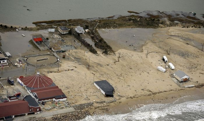 Aerial Hurricane Sandy damage photos, Photo 2 of 18