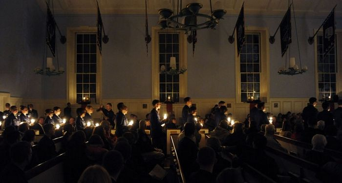 Christmas service at the Academy, Photo 2 of 4