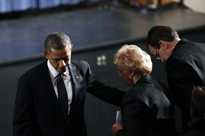 President Obama joins memorial service in Newtown, Photo 2 of 9