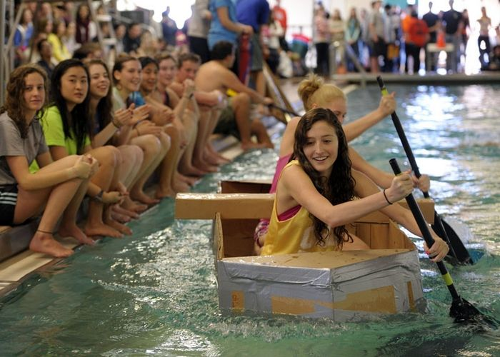 Cardboard boat races in East Lyme, Photo 1 of 8