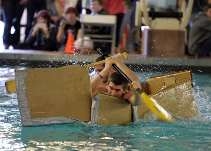 Cardboard boat races in East Lyme, Photo 2 of 8