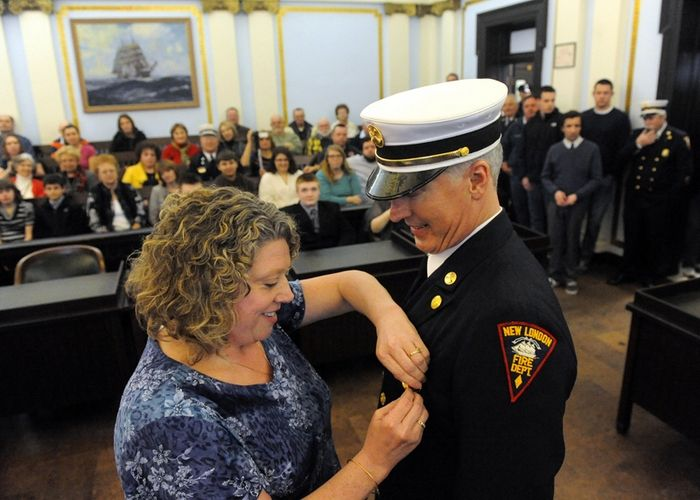 New London Fire Department promotions, Photo 1 of 3