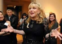 Courtney Love at the Lyman Allyn