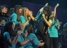 Stonington High School chorus performs with Foreigner at MGM