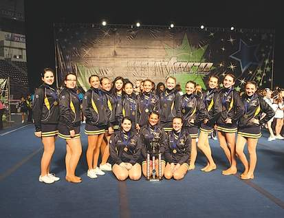 The East Haven Pom-Pom squad took home first prize at the Eastern Cheer and Dance Association competition at Hershey Park, Pennsylvania in April, one of its biggest moments of the season.