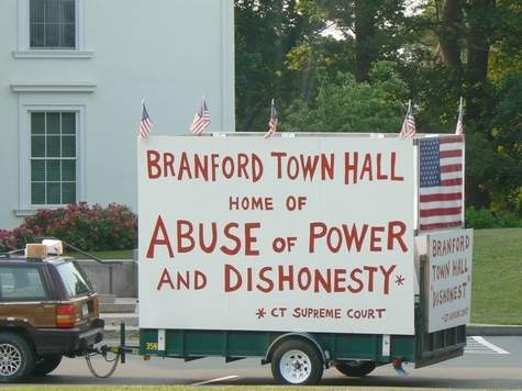 Attorneys for Branford citizen Wayne Cooke,creator of this