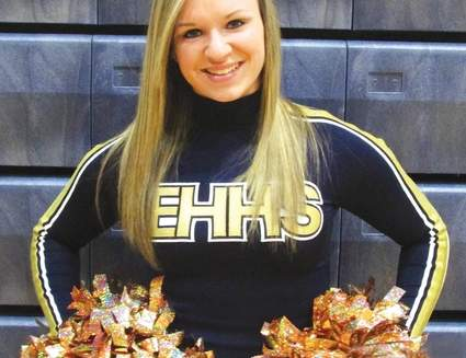 Carla Anania loves leading the East Haven cheerleading squad in all phases of their activities. She possesses a will to compete and can't wait for competitions to get underway.