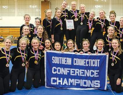 Hand gymnastics stands as the SCC champion for the sixth straight season after breaking its own record for the championship meet with 141.45 points on Feb. 7 at Law.
