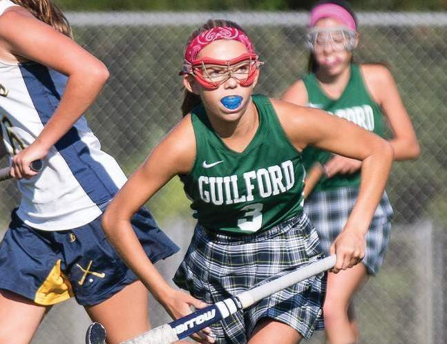 Olivia Clarke and the Guilford field hockey team took a 6-0 loss to top-seeded Wilton in the first round of the Class M State Tournament on Nov. 4.