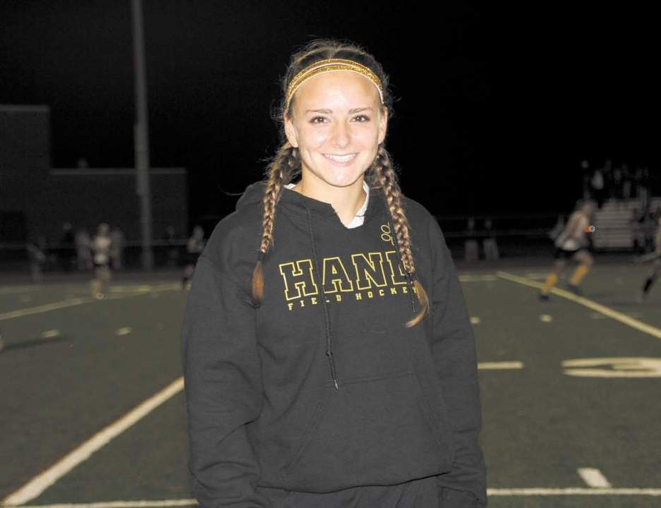 Hand field hockey senior forward Katie Omdahl earned All-SCC Second Team accolades, in addition to scoring the overtime goal against Lauralton Hall that earned the Tigers their first conference title since 2010. She scored 10 times this postseason to also lead Hand to its first state title.
