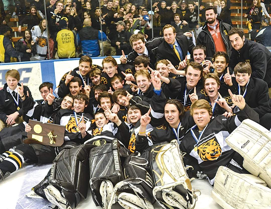 Hand boys' ice hockey entered the Division II State Tournament at 10-10 as the No. 13 seed, but came out of it with the program's first state crown in eight years after a 5-4 win over No. 2 Amity in the final on March 21 at Ingalls Rink in New Haven.