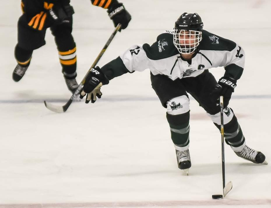 Matt Clifford recorded an assist in Guilford boys' ice hockey's 5-1 win over New Milford on Feb. 6 to push the Indians' record to 9-3-1.