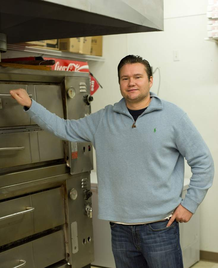 Owner Ron Freytag of Rosello's Apizza in Killingworth