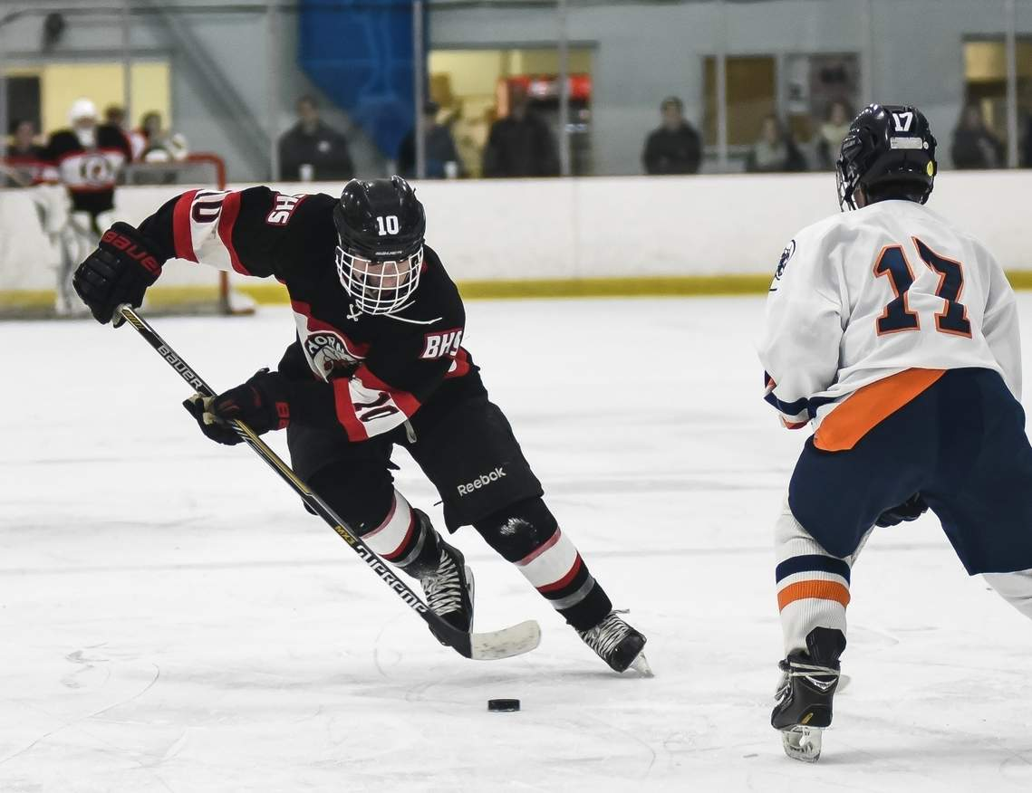 Zach Withington and the Hornets' boys' ice hockey squad qualified for the Division II State Tournament by edging New Milford 3-2 last week.