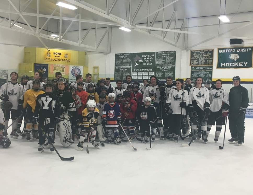 Youngsters from Guilford had a fun time at the annual Skate with the Varsity event that was hosted by the Indians' boys' ice hockey squad.