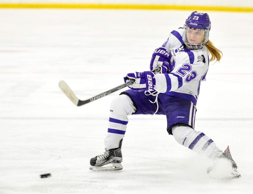 Branford native Izzy Bagi earned First Team All-Conference honors and was also selected as a Division II/III All-New England defender for the women's ice hockey team at the College of Holy Cross this winter. She additionally earned a spot on the New England Hockey Conference's All-Academic Team.
