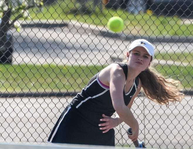 Senior captain Hannah Halsey is the Valley girls' tennis team's No. 1 singles player this season and has helped the Warriors storm out to a scorching 5-1 start.