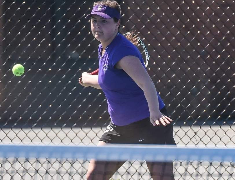 Westbrook's No. 1 singles player Casey Burns is undefeated on the season and the Knights are getting great contributions from all their players on the court in the team's 8-1 start to the season.
