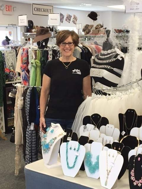 The Stork & Fashion Exchange owner Cathy White is celebrating 20 years on the shoreline. Photo by Karen Hartt