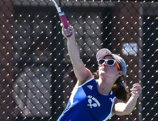 Rosie Rothman went 12-8 at No. 1 singles for Old Saybrook girls' tennis this spring and will reprise her captain's role as a senior in 2017.  Photo by Kelley Fryer/Harbor News