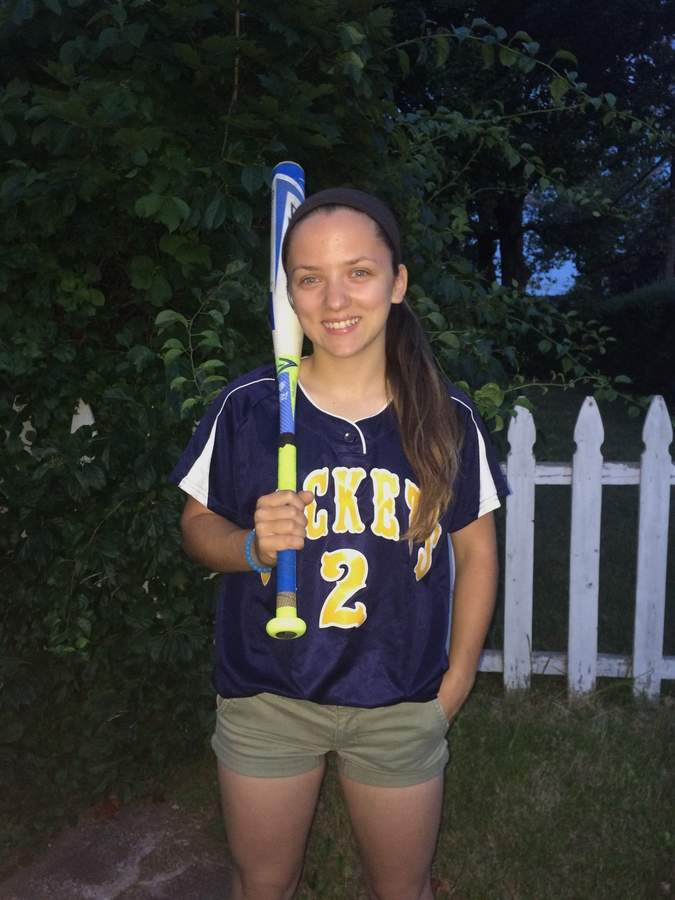 Ali Esposito developed into the East Haven softball team's everyday right fielder and used her speed well in the nine spot in the batting order. She was happy to earn a captain role her senior year. Photo courtesy of Ali Esposito
