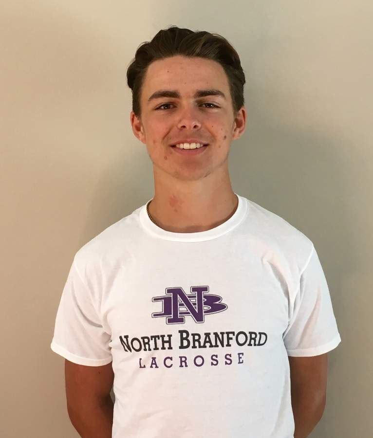 Nico Sommo was an All-State selection as a junior captain for the T-Birds' boys' lacrosse team and will be a senior at North Branford High School in the fall.  Photo courtesy of Nico Sommo