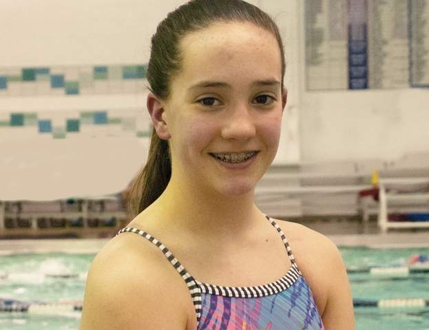 Valley Shore YMCA Marlins swimmer and Madison resident Kayla Mendonca finished first in her age group for the 200-meter backstroke at the Eastern Zone Age Group Championship meet in New York.  Photo and information courtesy of Debra Tietjen Smith