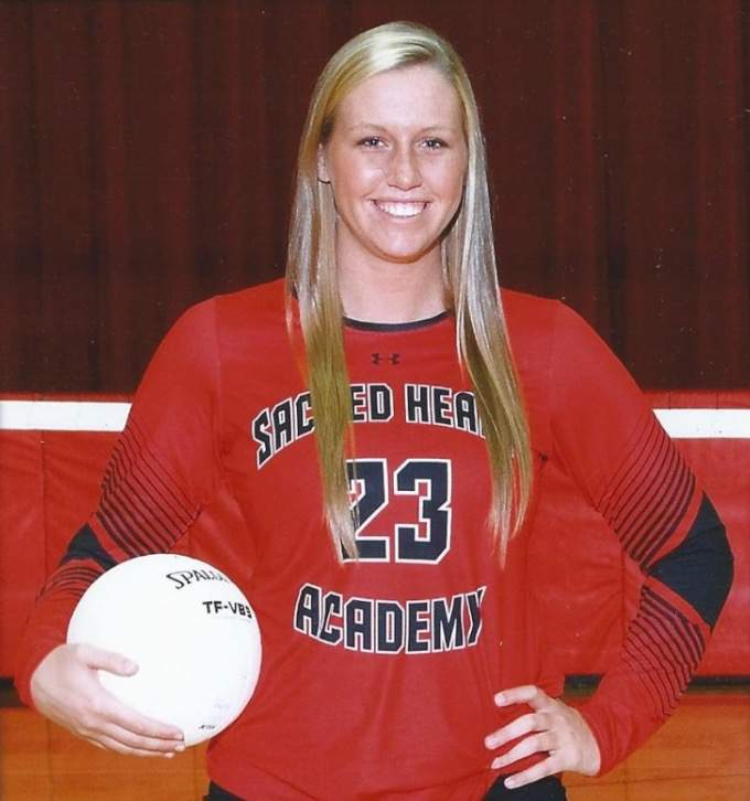 Caitlyn Keish put together a great senior season with the Sacred Heart Academy volleyball team last fall. As a captain, Caitlyn finished with a team-high 201 kills, which was good for a top-10 spot in the state. Photo courtesy of Caitlyn Keish
