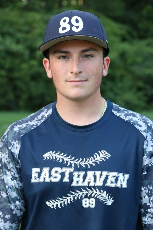 Tyler Leone earned the starting catcher's job for the East Haven Senior Legion baseball team and wound up batting .429 this summer. Photo courtesy of Tyler Leone