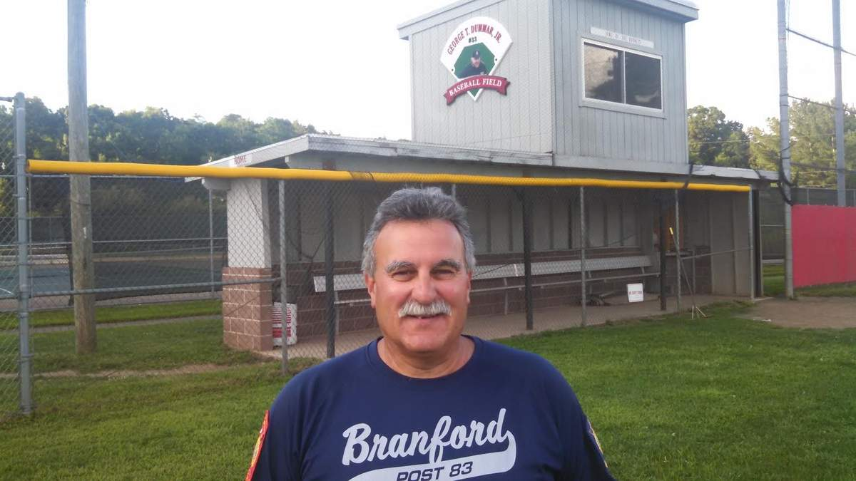 "Frank Forgione recently completed a five-year run as an assistant coach for the Branford Senior Legion baseball squad. Post 83's athletes always felt comfortable working with Forgione and that's one of the reasons why they call him ""Uncle Frank.""  Photo courtesy of Frank Forgione"