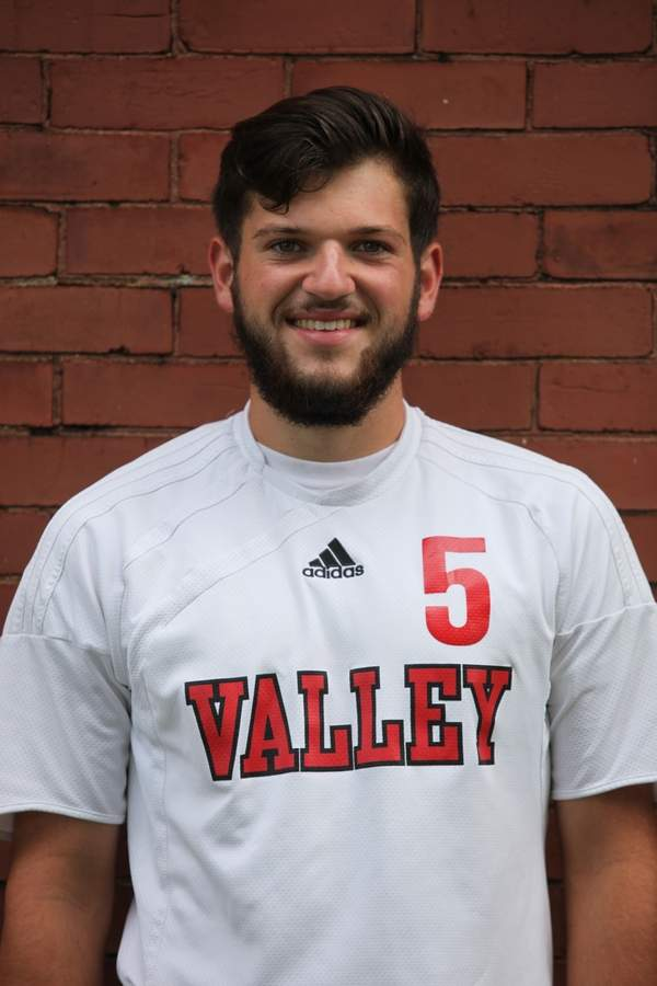 Central defender Nate Gagnon is excited to lead the Valley boys' soccer team as a senior captain in the 2016 season. Photo courtesy of Laura Matesky