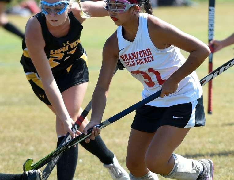 Junior Brittany Bunbanlu's versatility has played a part in the Branford field hockey team's 4-0 start this fall.  Photo by Wesley Bunnell/The Sound