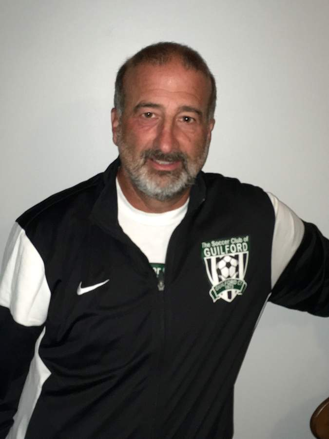 Former North Branford soccer coach and Northford resident Rick Geremia recently joined the coaching staff for the girls' team at Guilford. Photo courtesy of Rick Geremia