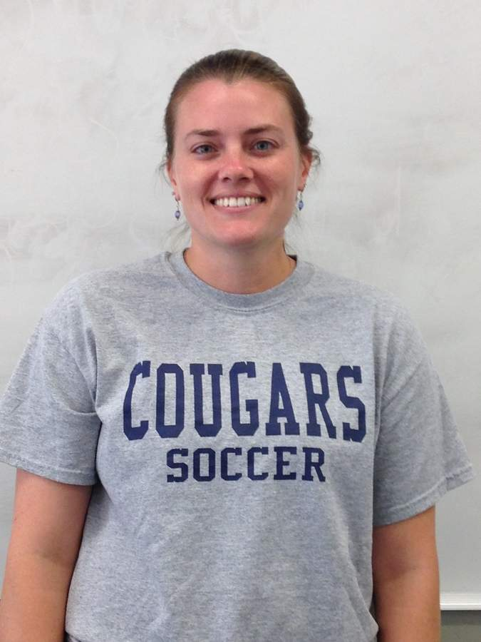 Haddam-Killingworth teacher Lindsay Ramm has donned a new hat with the Cougars this fall as their girls' soccer assistant coach. Photo courtesy of Lindsay Ramm