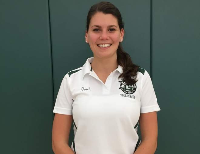 Former Law volleyball player Alyssa Dunn is back in the SCC this fall as the new freshman coach for Guilford. Photo courtesy of Alyssa Dunn
