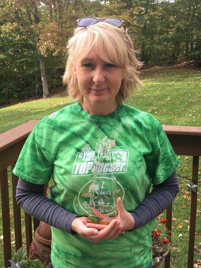 Jodi Azzinaro was named a Hometown Hero finalist for her work with TOPSoccer, a program that serves children who have disabilities throughout the shoreline.  Photo courtesy of Jodi Azzinaro