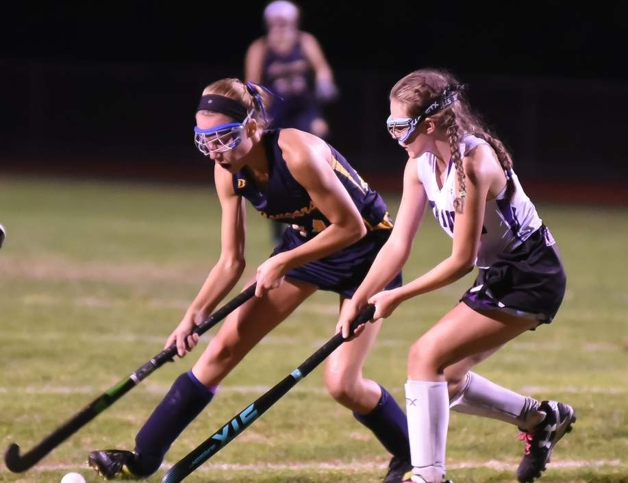 Molly Anderson and the HK field hockey team reached their second-consecutive Class S State Tournament final after a 3-0 shutout of Stonington in the semifinals on Nov. 16.  Photo by Kelley Fryer/The Source