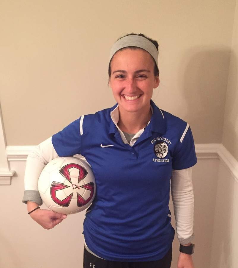 Few head coaches could have had a better first season than Berkeley Cecchini-Bond did with Old Saybrook girls' soccer this fall as the Rams went all the way to the Class S State Tournament final. Photo courtesy of Berkeley Cecchini-Bond