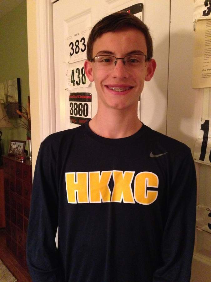 Andrew Meredith had a decorated season as a member of the Haddam-Killingworth boys' cross country team, which won both the Shoreline Conference title and the Class SS state crown this fall. Photo courtesy of Andrew Meredith