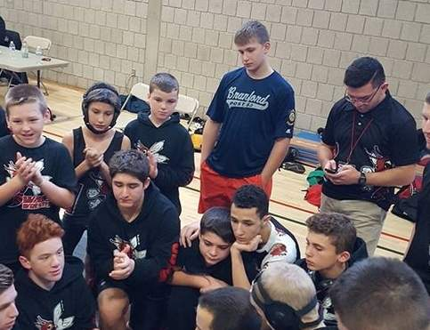 The Walsh Intermediate School wrestling team ran its undefeated streak to 85-consecutive contests by defeating three teams at the first Duals on Damascus meet.  Photo courtesy of Al Lopez