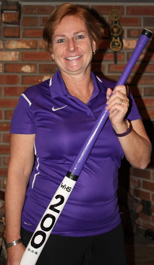 Janet Dickey had quite a year in 2016 as the Westbrook field hockey head coach by guiding the Knights to a Shoreline Conference title and their first state title since 1975. Along the way, Dickey picked up her 200th career win and the Connecticut High School Field Hockey Coaches' Association Class S Coach of the Year Award.  Photo courtesy of Janet Dickey