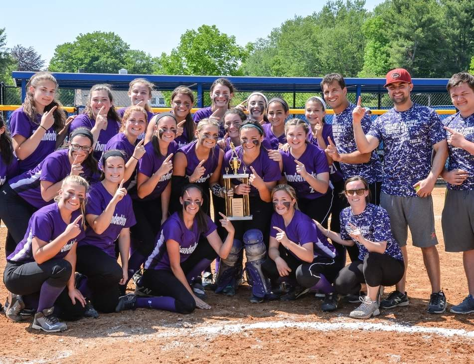 The North Branford softball squad won its second consecutive Shoreline Conference Tournament when it defeated Coginchaug 16-8 this spring. North Branford featured the Shoreline's best pitcher and top player in Lindsay Golia and Sabrine LeMere, respectively.   Photo by Kelley Fryer/The Sound