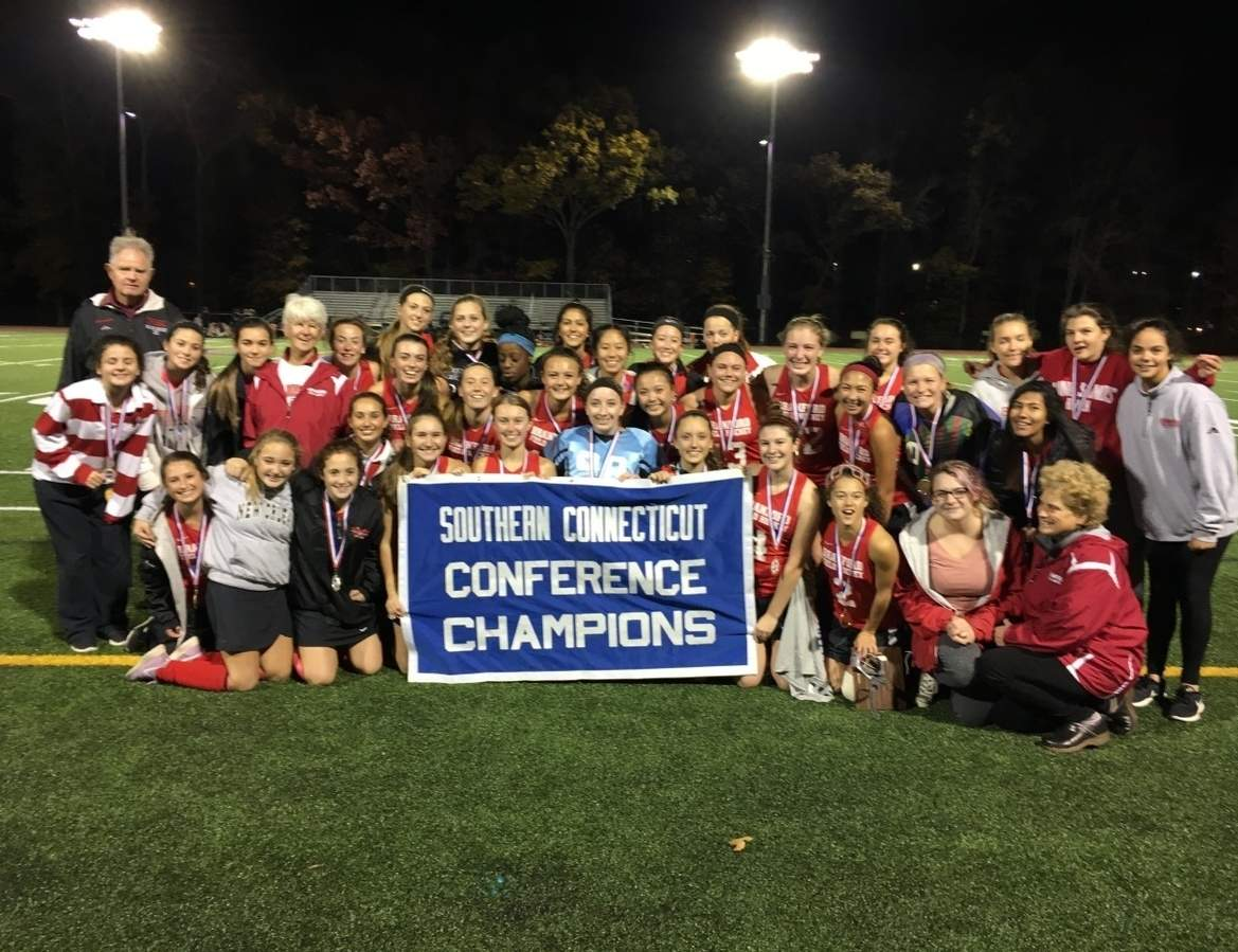 The Branford field hockey team defeated Cheshire 2-1 on Nov. 3 to win the first SCC Tournament championship in the history of the storied program.  Photo courtesy of John Steady