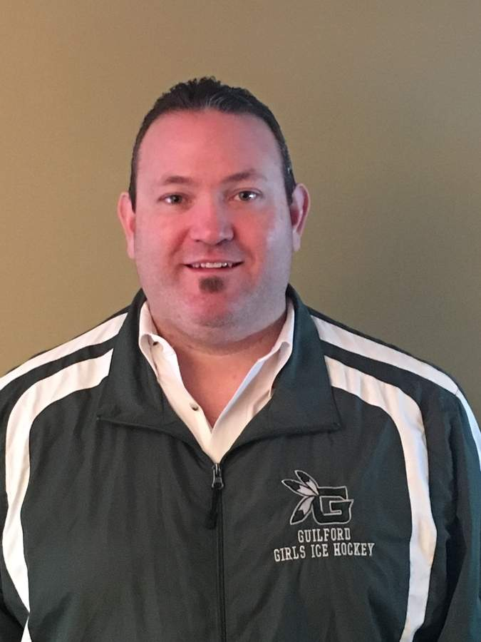 Rick Binkowski was hired as an assistant coach with the Guilford girls' hockey team after volunteering for the Indians last season. Photo courtesy of Rick Binkowski