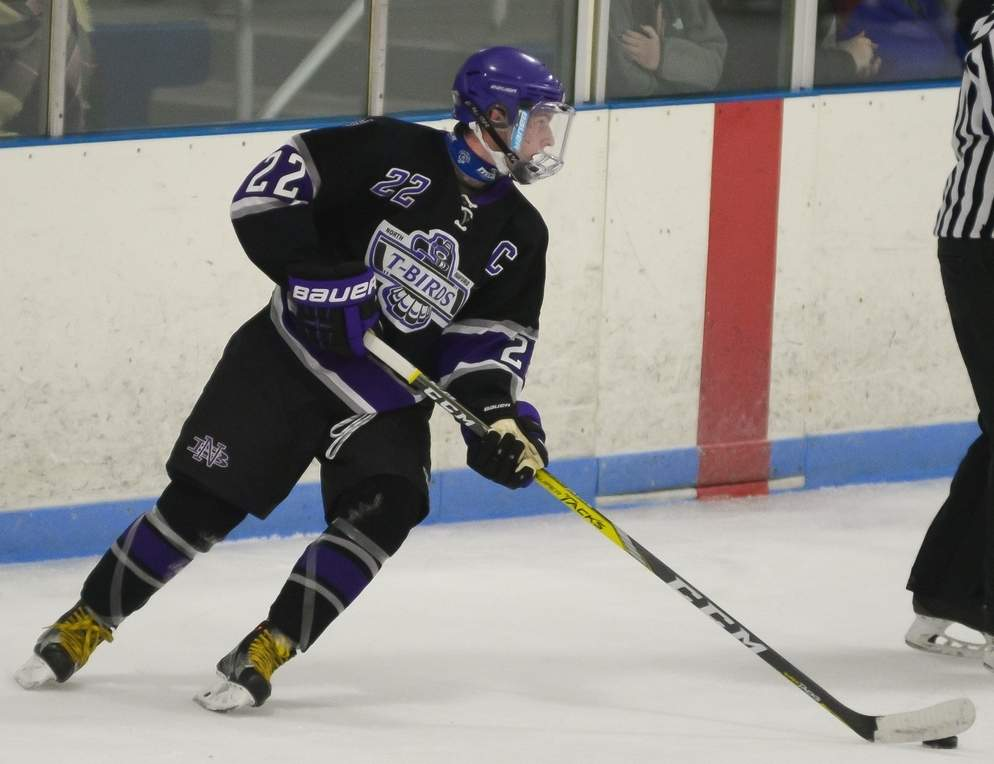 Brian McKee was a goal-scoring machine for the T-Birds last week by recording a pair of hat tricks in North Branford's two victories.   Photo by Kelley Fryer/The Sound
