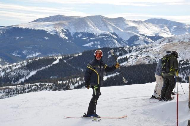 Branford native and former U.S. Disabled Ski Team racer Marc Romero (shown here in January 2017 in Breckenridge, Colorado) is telling the stories of the world's top adaptive athletes, sports and technology with his his web series, Adaptive Sports Evolution. Photo courtesy of Marc Romero
