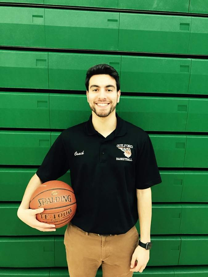 Former Guilford boys' basketball captain Dante Parisi is back with the Indians as the team's new assistant coach this winter. Photo courtesy of Dante Parisi