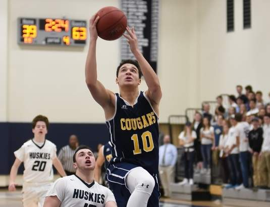 Jamie Bowen and the HK boys' basketball team are 7-4 and just one win away from making the State Tournament. Photo by Kelley Fryer/The Source